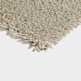 tapis shaggy gravel mix blanc - brink & campman