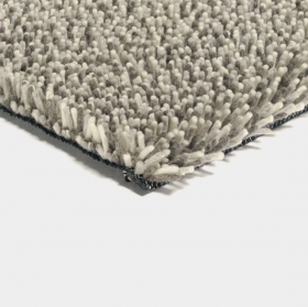 tapis shaggy gravel mix gris clair - brink & campman