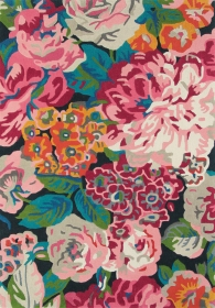 tapis rose & peony cerise sanderson - avalnico