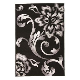 tapis moderne noir fragrance flair rugs