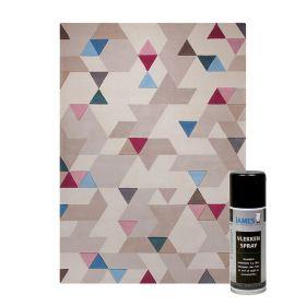 tapis imagination esprit home beige + détachant tapis james stainspray