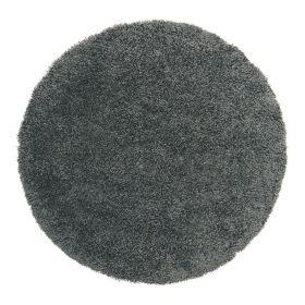 tapis shaggy rond noir 4cm flair rugs