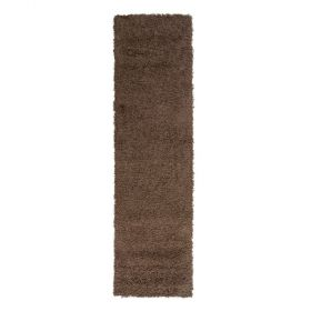 tapis de couloir shaggy marron 4cm flair rugs