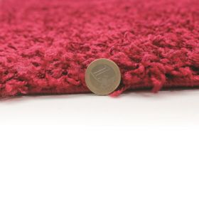 tapis shaggy rond beige 4cm flair rugs