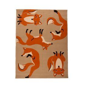 tapis orange fergus fox flair rugs
