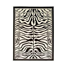 tapis moderne noir et blanc zebra flair rugs