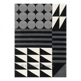 tapis ethno pop gris arte espina tufté main
