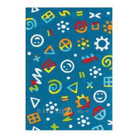 tapis enfant glowy arte espina bleu