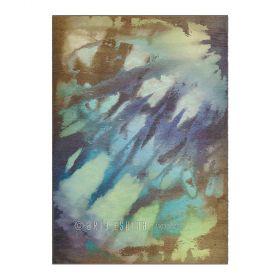 tapis zodiac arte espina bleu et marron
