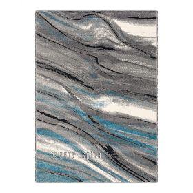 tapis bleu moderne moire arte espina