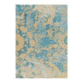 tapis ornement bleu et beige arte espina