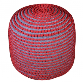 pouf roccoco rouge the rug republic