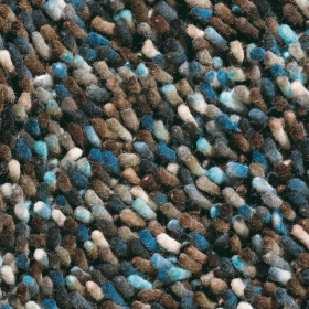 tapis shaggy marron et bleu brink & campman rocks