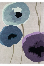 tapis poppies indigo sanderson - avalnico