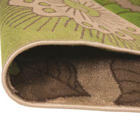 tapis moderne vert blossom flair rugs