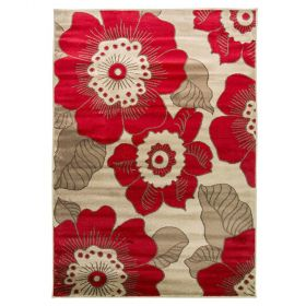 tapis moderne rouge blossom flair rugs