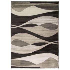tapis moderne noir contour flair rugs