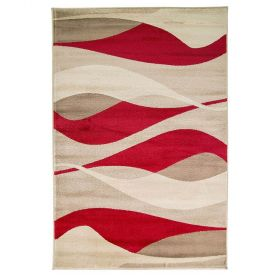 tapis moderne rouge contour flair rugs