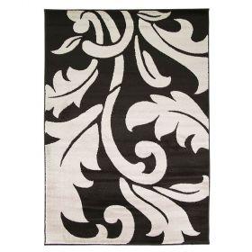 tapis moderne noir script flair rugs