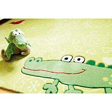 tapis enfant vert happy zoo crocodile sigikid