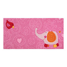 tapis enfant happy zoo elephant rose sigikid