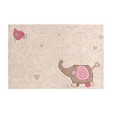 tapis enfant sigikid happy zoo elephant beige