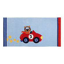 tapis enfant happy street cars bleu sigikid