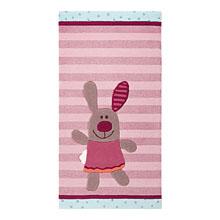 tapis enfant 3 happy friends stripes rose sigikid