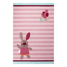 tapis enfant 3 happy friends stripes sigikid rose