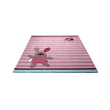 tapis enfant sigikid 3 happy friends stripes rose