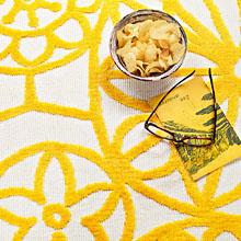 tapis society circle jaune esprit home