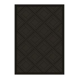 tapis moderne spectre noir angelo