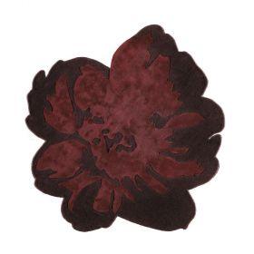 tapis moderne spring noir et rouge - angelo