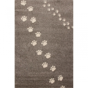 tapis enfant empreintes gris art for kids