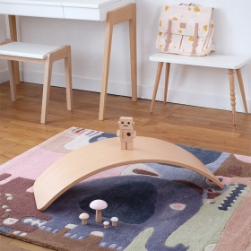 tapis enfant puzzle animaux multicolore art for kids