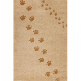tapis enfant empreintes beige art for kids