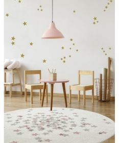 tapis enfant rond nova rose - art for kids
