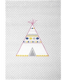 tapis enfant tipi gris - art for kids