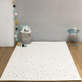 tapis confettis multicolore - art for kids