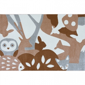 tapis puzzle animaux de la foret - art for kids