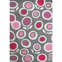 tapis enfant fleurs multicolore art for kids
