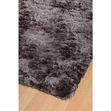 tapis shaggy taupe vision home spirit