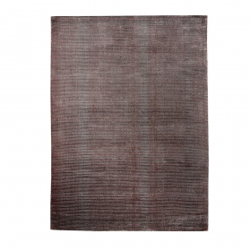 tapis tissé main mirage home spirit gris et rouge