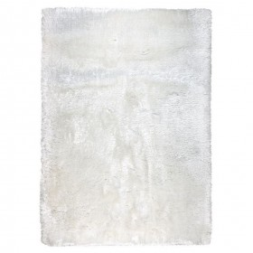 tapis shaggy adore ligne pure blanc tissé main