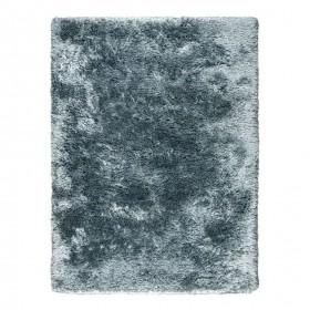 tapis shaggy tissé main bleu adore ligne pure