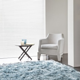 tapis shaggy bleu adore - ligne pure