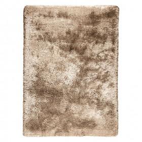 tapis shaggy tissé main marron adore ligne pure