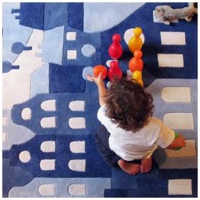 tapis pour enfant amsterdam bleu art for kids