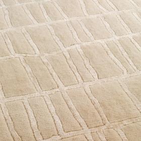 tapis angelo en laine bali beige noué main