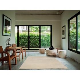 tapis angelo bamboo en fibres de bambou blanc